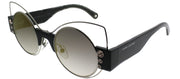 Marc Jacobs MARC 1 U4T Cat-Eye Metal Silver Sunglasses with Gold Mirror Lens