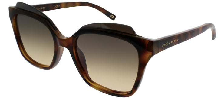 Marc Jacobs MARC 106 N36 GG Square Plastic Tortoise/ Havana Sunglasses with Brown Gold Mirror Lens