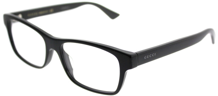 Gucci GG 0006OA 001 Rectangle Plastic Black Eyeglasses with Demo Lens