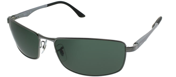 Ray-Ban RB 3498 004/71 Sport Metal Black Sunglasses with Green Lens