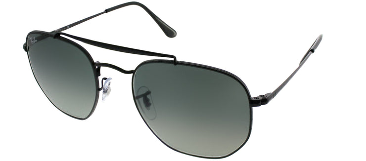 Ray-Ban RB 3648 002/71 Aviator Metal Black Sunglasses with Grey Gradient Lens