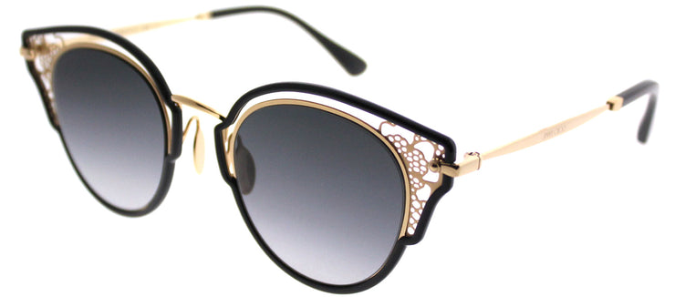 Jimmy Choo JC Dhelia 2M2 Cat-Eye Metal Gold Sunglasses with Grey Gradient Lens