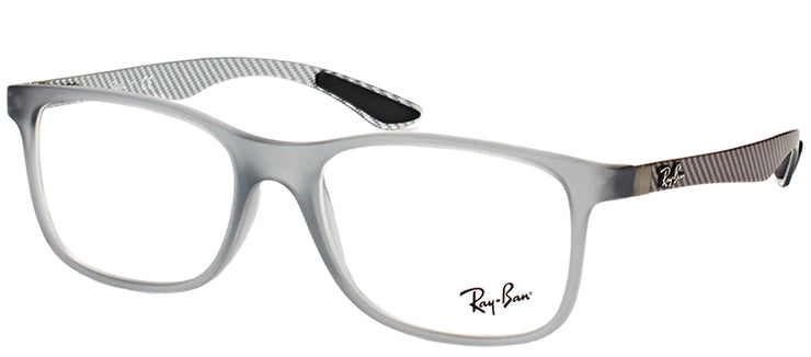 Ray-Ban RX 8903 5244 Square Plastic Grey Eyeglasses with Demo Lens