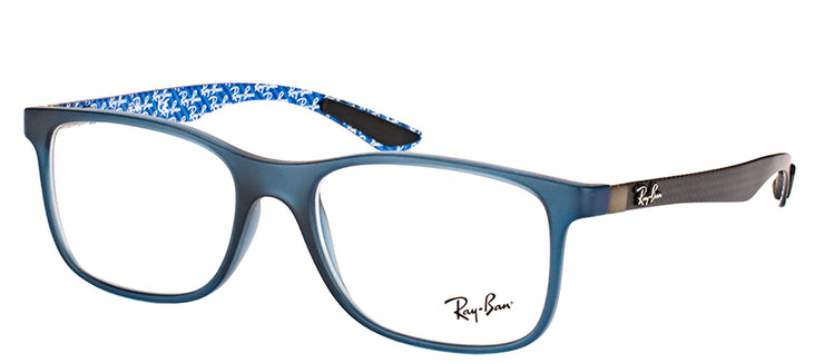 Ray-Ban RX 8903 5262 Square Plastic Blue Eyeglasses with Demo Lens