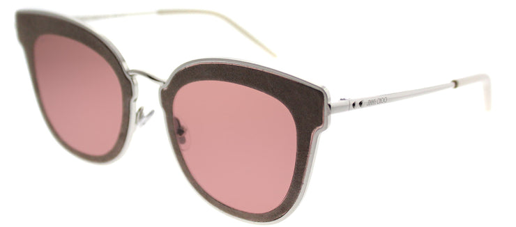 Jimmy Choo JC Nile S0J 2M Cat-Eye Metal Beige Sunglasses with Brown Lens