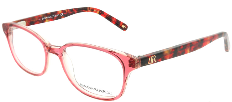 Banana Republic BP Coleen QZ6 Rectangle Plastic Pink Eyeglasses with Demo Lens