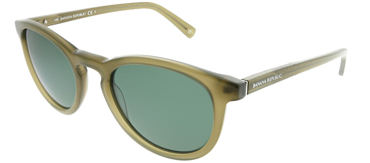 Banana Republic BP Johnny YL3 QT Round Plastic Green Sunglasses with Green Lens
