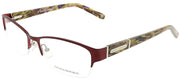 Banana Republic BP Jordyn 23B Semi-Rimless Metal Burgundy/ Red Eyeglasses with Demo Lens