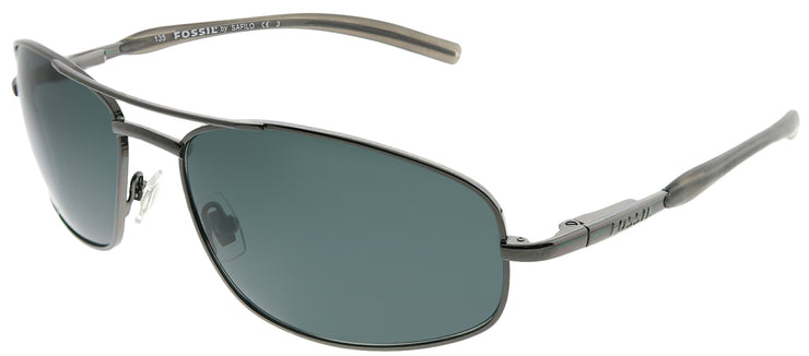 Fossil FO Jumper/S C2K RA Rectangle Metal Ruthenium/ Gunmetal Sunglasses with Grey Polarized Lens