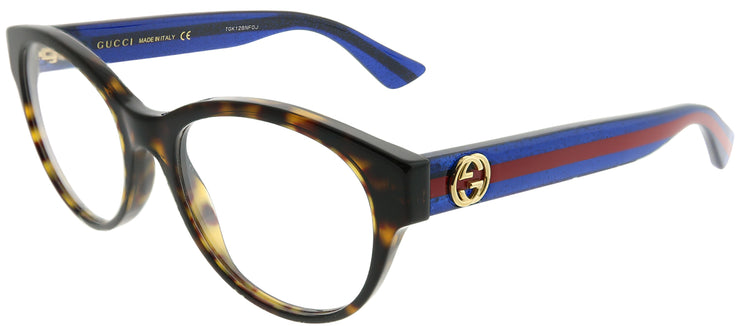 Gucci GG 0040O 003 Square Plastic Tortoise/ Havana Eyeglasses with Demo Lens