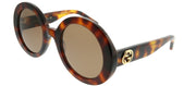 Gucci GG 0319S 002 Round Plastic Tortoise/ Havana Sunglasses with Brown Lens