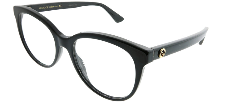 Gucci GG 0329O 001 Round Plastic Black Eyeglasses with Demo Lens