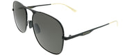 Gucci GG 0335S 002 Aviator Metal Black Sunglasses with Grey Lens