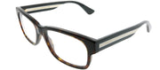Gucci GG 0343O 008 Rectangle Plastic Tortoise/ Havana Eyeglasses with Demo Lens
