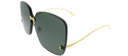 Gucci GG 0352S 001 Square Metal Gold Sunglasses with Grey Solid Lens