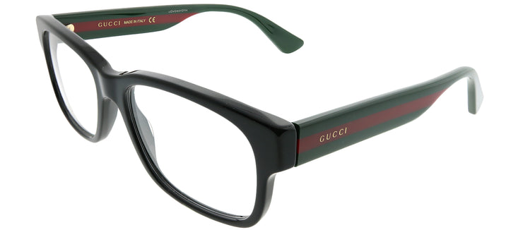 Gucci GG 0343O 007 Rectangle Plastic Black Eyeglasses with Demo Lens