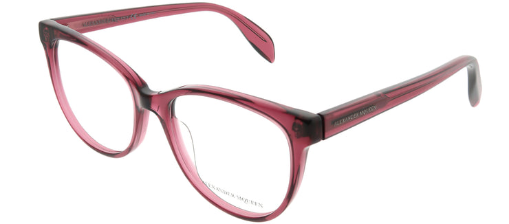 Alexander McQueen AM 0114O 003 Cat-Eye Plastic Pink Eyeglasses with Demo Lens