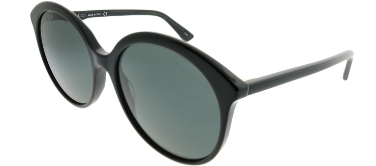 Gucci GG 0257S 001 Round Plastic Black Sunglasses with Grey Lens