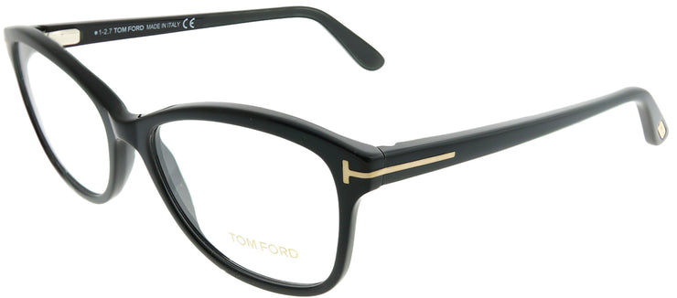 Tom Ford FT 5404 001 Rectangle Plastic Black Eyeglasses with Demo Lens