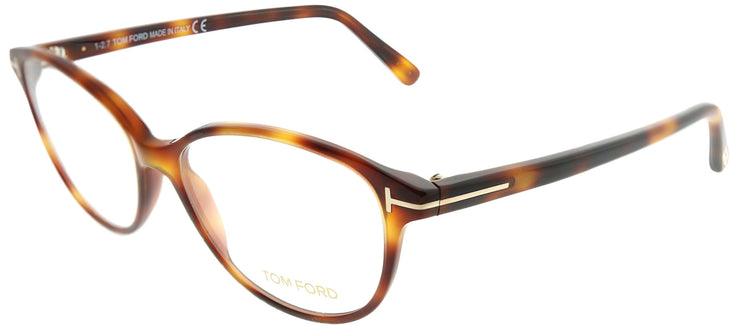 Tom Ford FT 5421 053 Cat-Eye Plastic Tortoise/ Havana Eyeglasses with Demo Lens