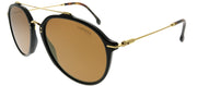 Carrera CA Carrera171 807 K1 Aviator Plastic Black Sunglasses with Gold Mirror Lens