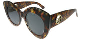 Fendi FF 0306 086 IR Cat-Eye Plastic Tortoise/ Havana Sunglasses with Grey Lens
