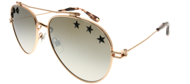 Givenchy GV 7057 Stars DDB NQ Aviator Metal Gold Sunglasses with Brown Mirror Gradient Stars Lens