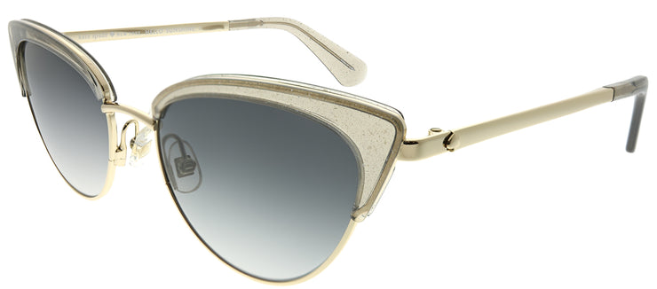Kate Spade KS Jahnam KB7 9O Cat-Eye Plastic Grey Sunglasses with Dark Grey Gradient Lens