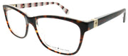 Kate Spade KS Calley 086 Rectangle Plastic Tortoise/ Havana Eyeglasses with Demo Lens