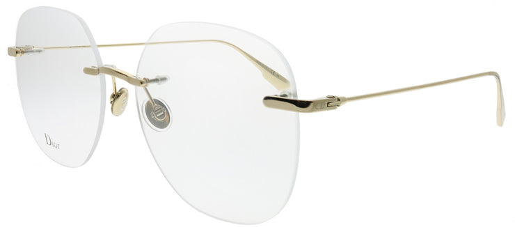 Dior CD StellaireO6 J5G Rimless Metal Gold Eyeglasses with Demo Lens