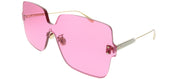 Dior CD ColorQuake1 MU1 U1 Square Plastic Pink Sunglasses with Pink Lens