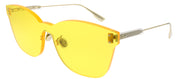 Dior CD ColorQuake2 40G HO Rectangle Plastic Yellow Sunglasses with Yellow Lens