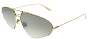 Dior CD Stellaire5 J5G 0T Oval Metal Gold Sunglasses with Silver Mirror Gradient Lens