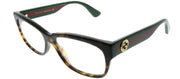 Gucci GG 0278O 012 Rectangle Plastic Tortoise/ Havana Eyeglasses with Demo Lens