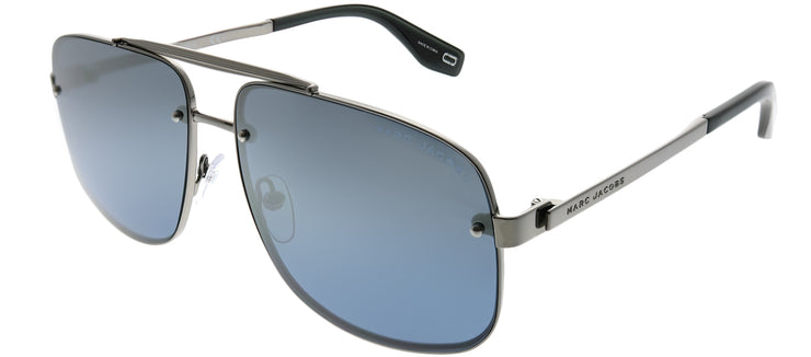 Marc Jacobs Marc 318 6LB 9U Aviator Metal Ruthenium/ Gunmetal Sunglasses with Blue Mirror Lens