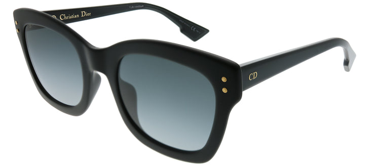 Dior Homme CD DiorIzon2 807 Square Plastic Black Sunglasses with Dark Grey Gradient Lens