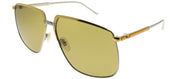 Gucci GG 0365S 003 Aviator Metal Gold Sunglasses with Green Lens