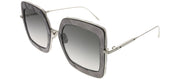 Bottega Veneta BV 0209S 001 Square Plastic Grey Sunglasses with Grey Gradient Lens