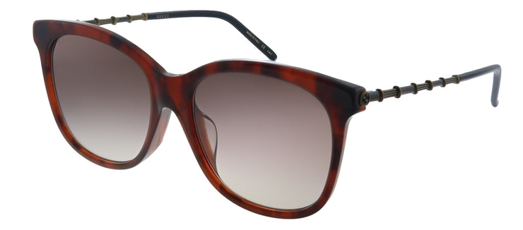 Gucci GG 0655SA 002 Square Plastic Havana Sunglasses with Brown Gradient Lens
