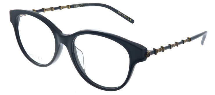 Gucci GG 0658OA 001 Cat-Eye Plastic Black Eyeglasses with Demo Lens