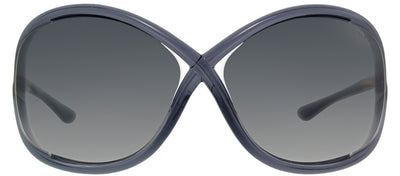 Tom Ford Whitney TF 9 B5 Fashion Plastic Grey Sunglasses with Dark Grey Lens