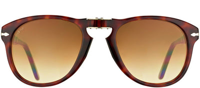 Persol PO 714 24/51 Round Plastic Tortoise/ Havana Sunglasses with Brown Gradient Lens