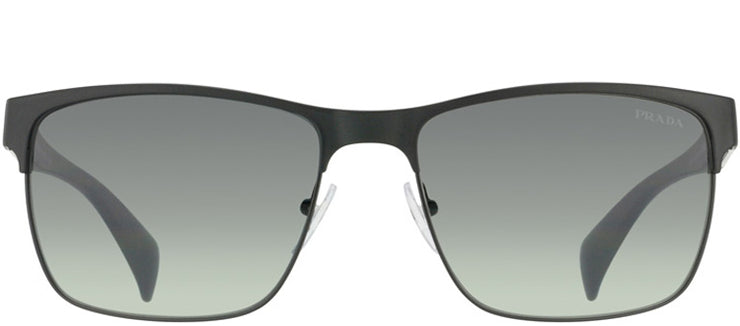 Prada PR 51OS FAD3M1 Fashion Metal Black Sunglasses with Grey Gradient Lens