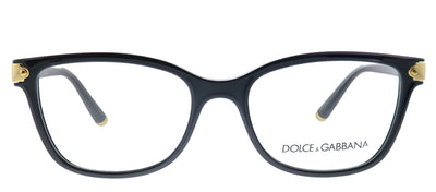 Dolce & Gabbana DG 5036 501  Butterfly Plastic  Black Eyeglasses with Demo Lens