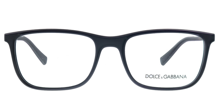Dolce & Gabbana DG 5027 2525 Rectangle Plastic Black Eyeglasses with Demo Lens