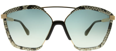 Jimmy Choo JC Leon 09Q EZ Square Plastic Brown Sunglasses with Brown Mirror Gradient Lens