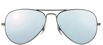 Ray-Ban RB 3025 029/30 Aviator Metal Ruthenium/ Gunmetal Sunglasses with Silver Mirror Lens