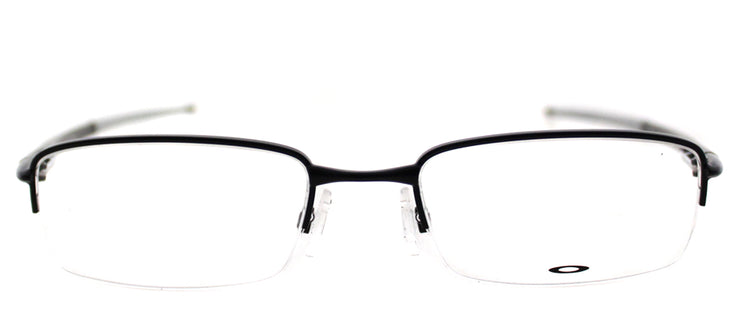 Oakley Rhinochaser OX 3111 02 Semi-Rimless Metal Black Eyeglasses with Demo Lens