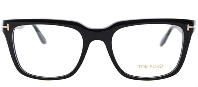 Tom Ford FT 5304 001 Square Plastic Black Eyeglasses with Demo Lens