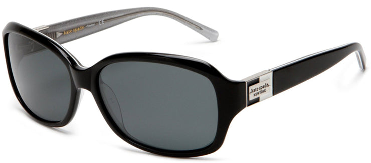 Kate Spade KS Annika JBHP Rectangle Plastic Black Sunglasses with Grey Polarized Lens